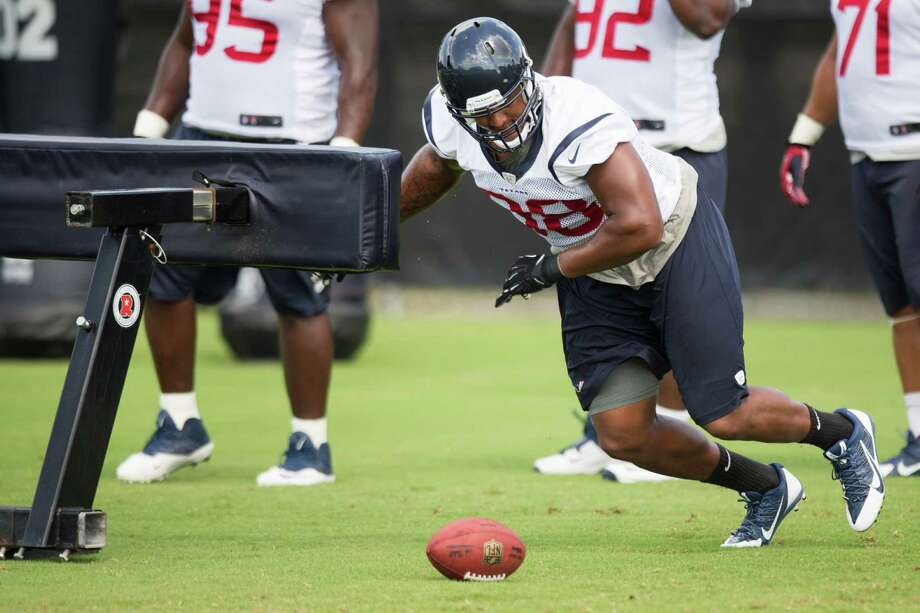 Keith Browner Jr. has impressed the Texans' new coaching staff with his work ethic. Photo: Brett Coomer, Staff / © 2014 Houston Chronicle