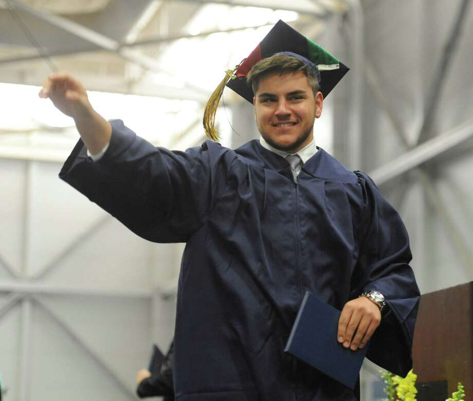 Photos from the Brookfield High School 2014 Graduation Ceremony at Western Connecticut State University's O'Neill Center in Danbury, Conn. Saturday, June 21, 2014. Photo: Tyler Sizemore / The News-Times