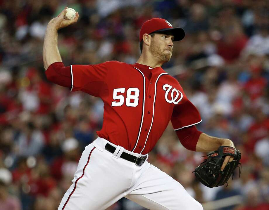 In eight shutout innings, Nationals starter Doug Fister allowed five hits — just three in his final seven frames — while striking out three. Rafael Soriano worked the ninth for his 16th save. Photo: Alex Brandon / Associated Press / AP