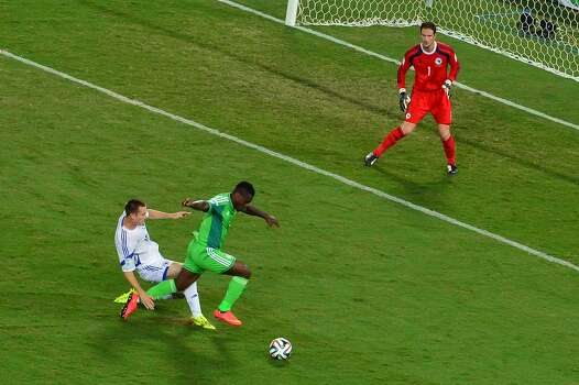 June 21Nigeria 1, Bosnia-Herzegovina 0 Photo: LUIS ACOSTA, AFP/Getty Images / AFP