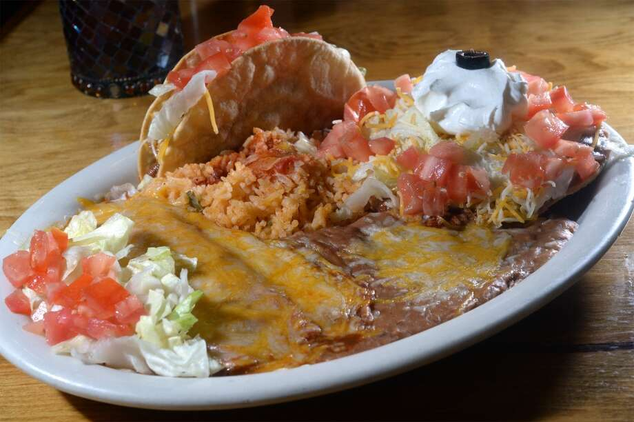 Mexican plate at Robert's Steak House & Meat Market in Orange. Photo taken Wednesday, June 11, 2014 Guiseppe Barranco/@spotnewsshooter