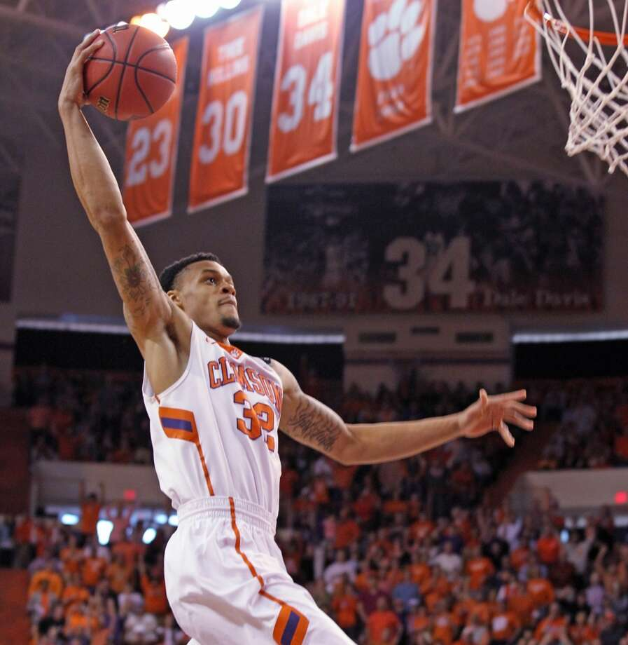 K.J. McDaniels  Position: Forward  Ht./Wt: 6-6/200 lbs  School: Clemson  Classification: Junior  2013-14 stats: 17 points, seven rebounds, two assists, one steal, three blocks per game Photo: Mark Crammer, Associated Press