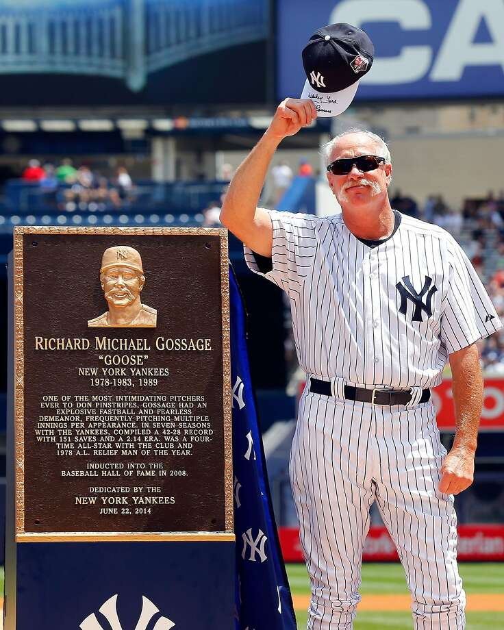 Goose Gossage's plaque will join the Yankees' Monument Park. Photo: Jim McIsaac, Getty Images