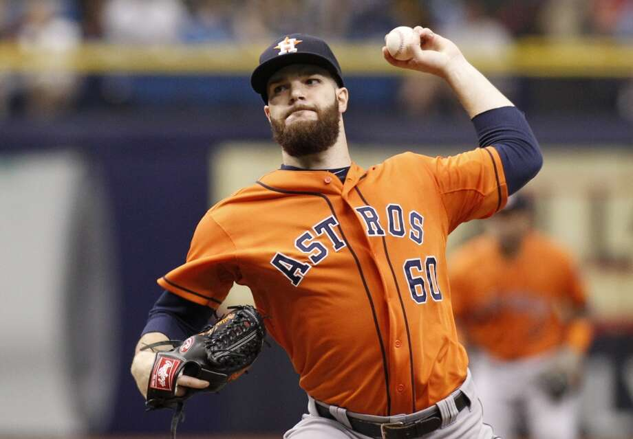 Dallas Keuchel works during the first inning. Photo: Brian Blanco, Getty Images
