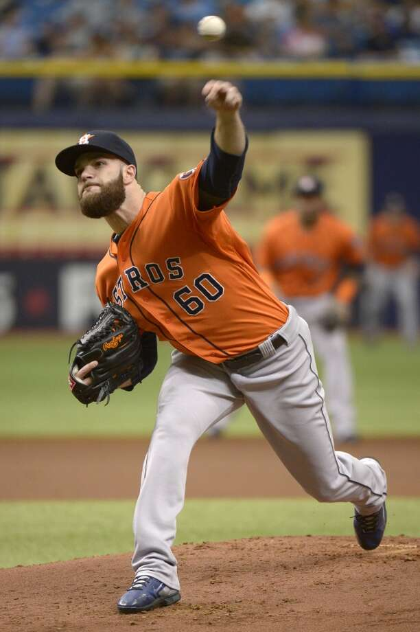 June 22: Rays 5, Astros 2  Dallas Keuchel gave the Astros eight innings of work, but it wasn't enough to get a road win in the series finale.  Record: 33-44. Photo: Phelan M. Ebenhack, Associated Press