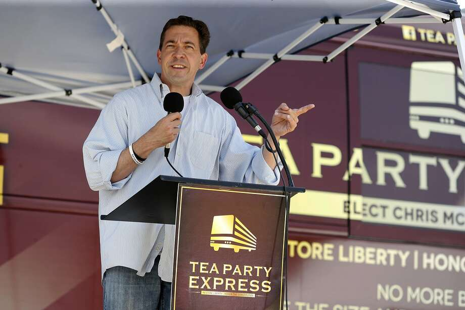 Senate candidate Chris McDaniel speaks to supporters during a Tea Party Express gathering at Fairpark in Tupelo, Miss., Saturday, June 21, 2014. McDaniel faces incumbent U.S. Sen. Thad Cochran, R-Miss., in Tuesday's run-off for the GOP senate nomination. (AP Photo/The Northeast Mississippi Daily Journal, Adam Robison)  MANDATORY CREDIT Photo: Adam Robison, Associated Press