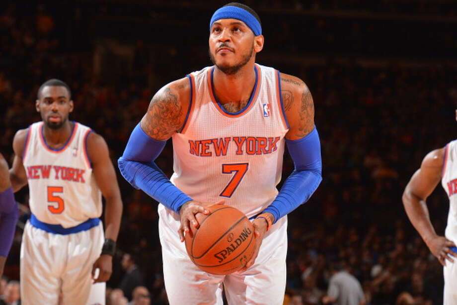 Carmelo Anthony Small forward Age: 30 Status: Agreed to deal with New York Knicks. Photo: Jesse D. Garrabrant, NBAE/Getty Images / 2014 NBAE