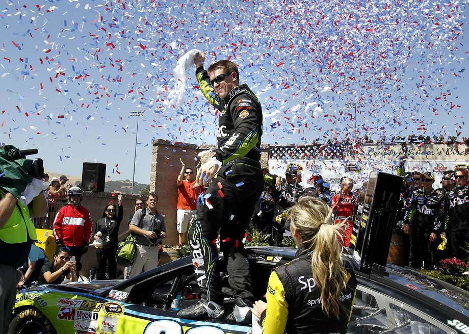 Carl Edwards becomes the 10th different driver in the past 10 years to win the Sonoma event. Photo: Brant Ward, San Francisco Chronicle