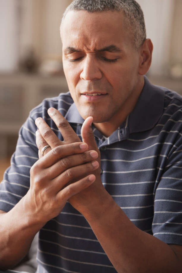 "Cannabis can help reduce pain caused by Osteoarthritis  A study from PLOS One found that CB2 receptors activated by cannabis have the potential for treating people with Osteoarthritis joint pain.  ""Osteoarthritis (OA) of the joint is a prevalent disease accompanied by chronic, debilitating pain. Recent clinical evidence has demonstrated that central sensitization contributes to OA pain. An improved understanding of how OA joint pathology impacts upon the central processing of pain is crucial for the identification of novel analgesic targets/new therapeutic strategies. …  These data provide new clinically relevant evidence that joint damage and spinal CB2 receptor expression are correlated combined with converging pre-clinical evidence that activation of CB2 receptors inhibits central sensitization and its contribution to the manifestation of chronic OA pain. These findings suggest that targeting CB2 receptors may have therapeutic potential for treating OA pain.""  Photo: SelectStock, Getty Images/Vetta / Vetta"