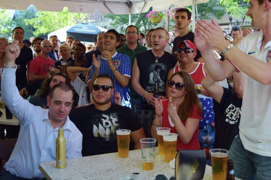 USA and Portugal faced off in the World Cup on Sunday, June 22. Were you SEEN cheering on your team at Tigin Irish Pub and Capriccio Caf� in downtown Stamford? Photo: Todd Tracy / Hearst Connecticut Media Group
