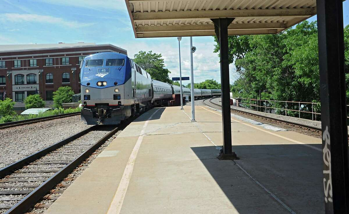 An Amtrak train from Albany arrives at the Schenectady Train Station Thursday, June 19, 2014 in Schenectady, N.Y. This train was headed north towards Montreal. (Lori Van Buren / Times Union)
