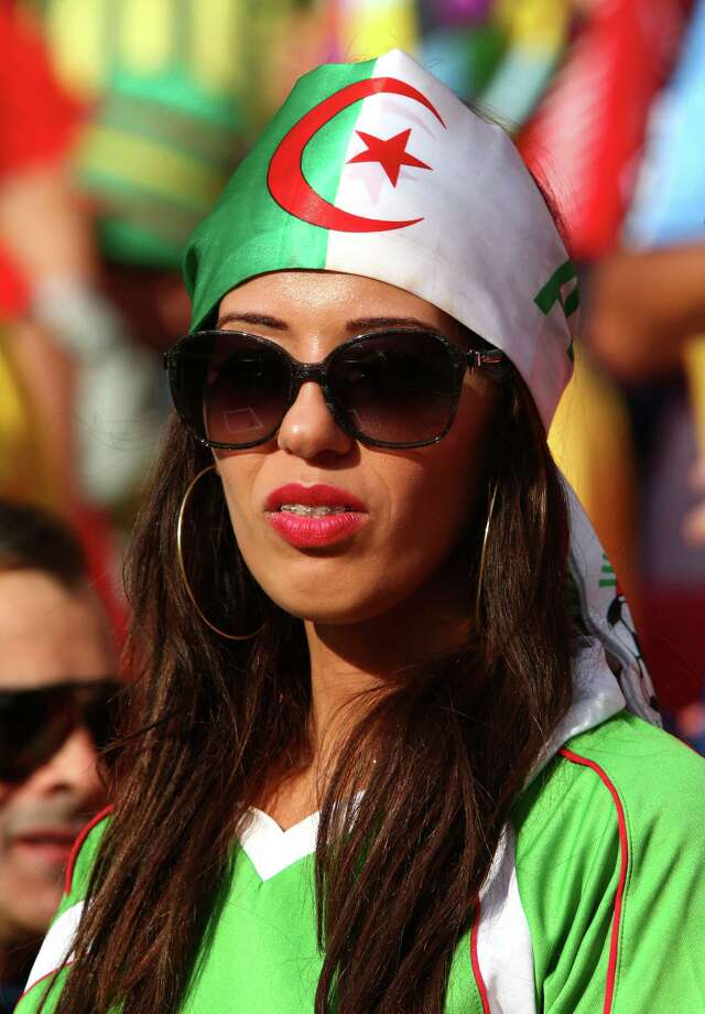PORTO ALEGRE, BRAZIL - JUNE 22:  An Algeria fan looks on prior to the 2014 FIFA World Cup Brazil Group H match between South Korea and Algeria at Estadio Beira-Rio on June 22, 2014 in Porto Alegre, Brazil. Photo: Ian Walton, Getty Images / 2014 Getty Images