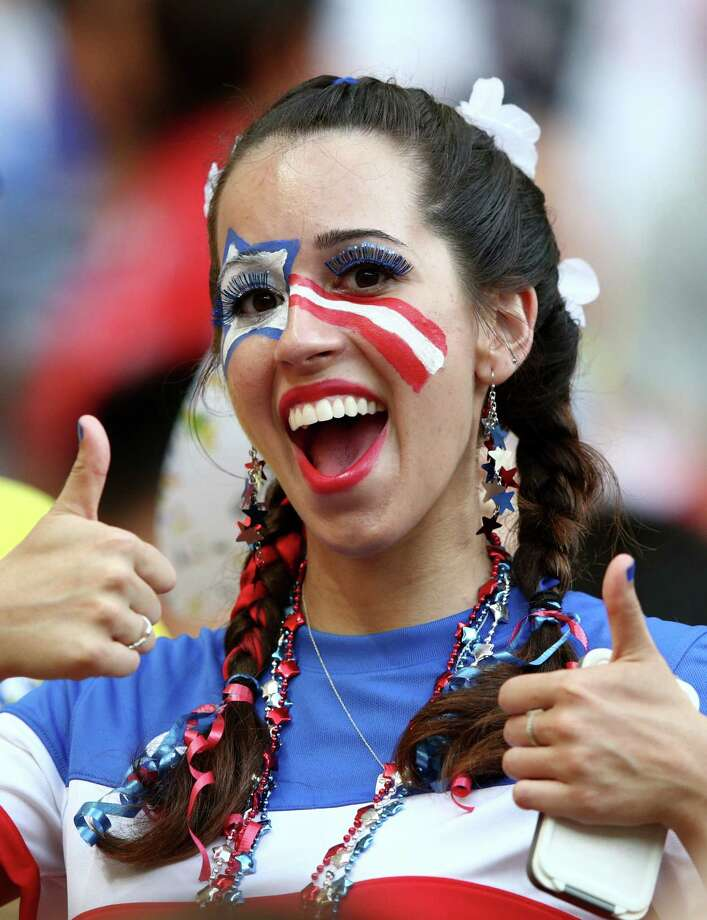 MANAUS, BRAZIL - JUNE 22:  A fan of the United States looks on prior to the 2014 FIFA World Cup Brazil Group G match between the United States and Portugal at Arena Amazonia on June 22, 2014 in Manaus, Brazil. Photo: Adam Pretty, Getty Images / 2014 Getty Images
