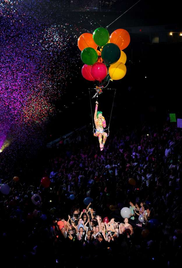 "RALEIGH, NC - JUNE 22:  (Editorial Use Only) Katy Perry performs onstage during ""The Prismatic World Tour"" at PNC Arena on June 22, 2014 in Raleigh, North Carolina.  (Photo by Kevin Mazur/Getty Images) Photo: Kevin Mazur, Getty Images"