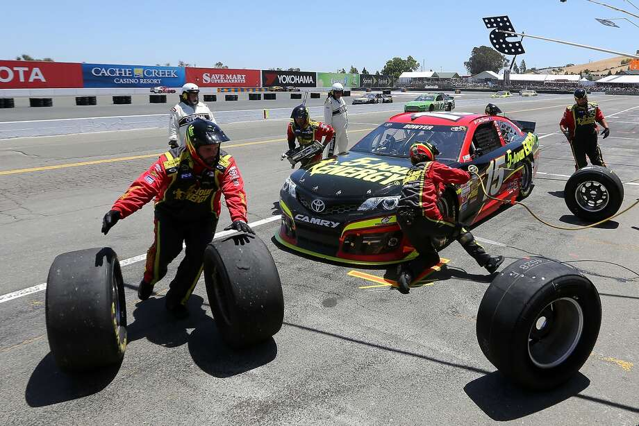 SONOMA, CA - JUNE 22:  Clint Bowyer, driver of the #15 5-hour ENERGY Toyota, pits during the NASCAR Sprint Cup Series Toyota/Save Mart 350 at Sonoma Raceway on June 22, 2014 in Sonoma, California.  (Photo by Jerry Markland/Getty Images) Photo: Jerry Markland, Getty Images