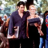 "John Cusack and Iben Hjejle in ""High Fidelity"" -- love turns him into an adult."