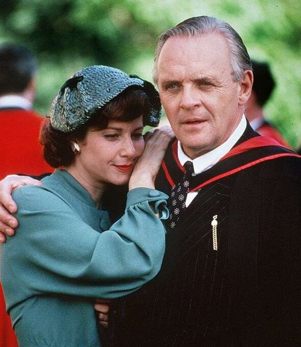 Poet Joy Gresham (Debra Winger) and writer C.S. Lewis (Anthony Hopkins) in SHADOWLANDS, about the redemptive power of love. Photo: Courtesy Photo