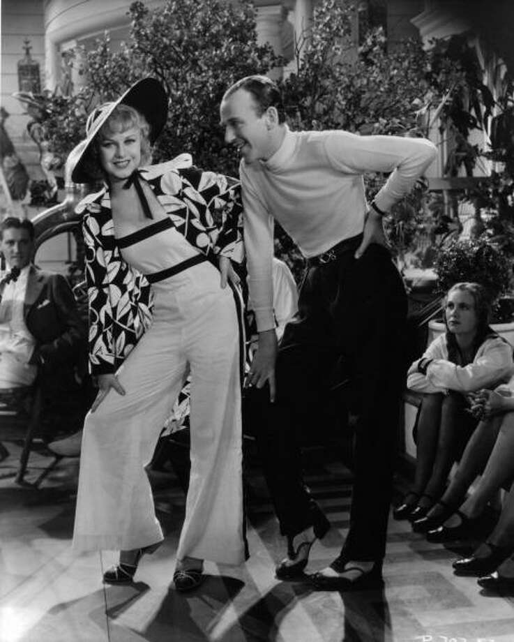 THE ROMANCE OF FAMILIARITY: Ginger Rogers and Fred Astaire together in a scene from the film 'Flying Down To Rio', 1933. It was the delightful spectacle of a man and woman working together as pals that made them an immediate hit with this, their first film as a team. Photo: Archive Photos, Getty Images