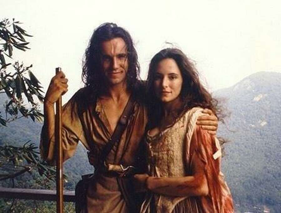 """Daniel Day-Lewis and Madeleine Stowe in """"The Last of the Mohicans.""""  Love in the backwoods. Photo: 20th Century Fox 1992, ONLINE_YES"""