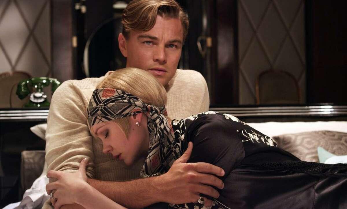 Carey Mulligan as Daisy Buchanan and Leonardo DiCaprio as Jay Gatsby in a scene from