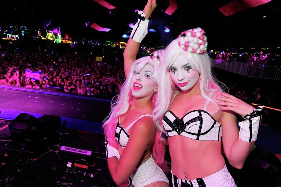 LAS VEGAS, NV - JUNE 21:  Performers dance during the 18th annual Electric Daisy Carnival at Las Vegas Motor Speedway on June 21, 2014 in Las Vegas, Nevada. Photo: Steven Lawton, Getty Images / 2014 Steven Lawton