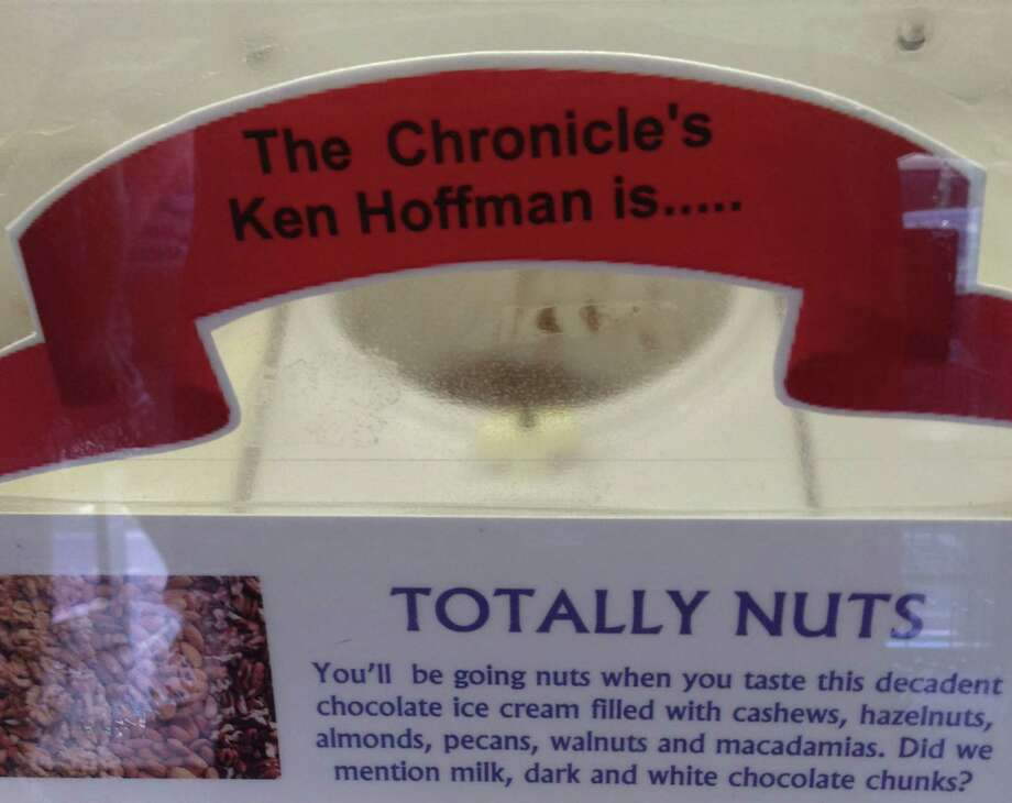 Check out all the ingredients that go into the Ken Hoffman is Totally Nuts  ice cream at the Chocolate Bar. Photo: Ken Hoffman