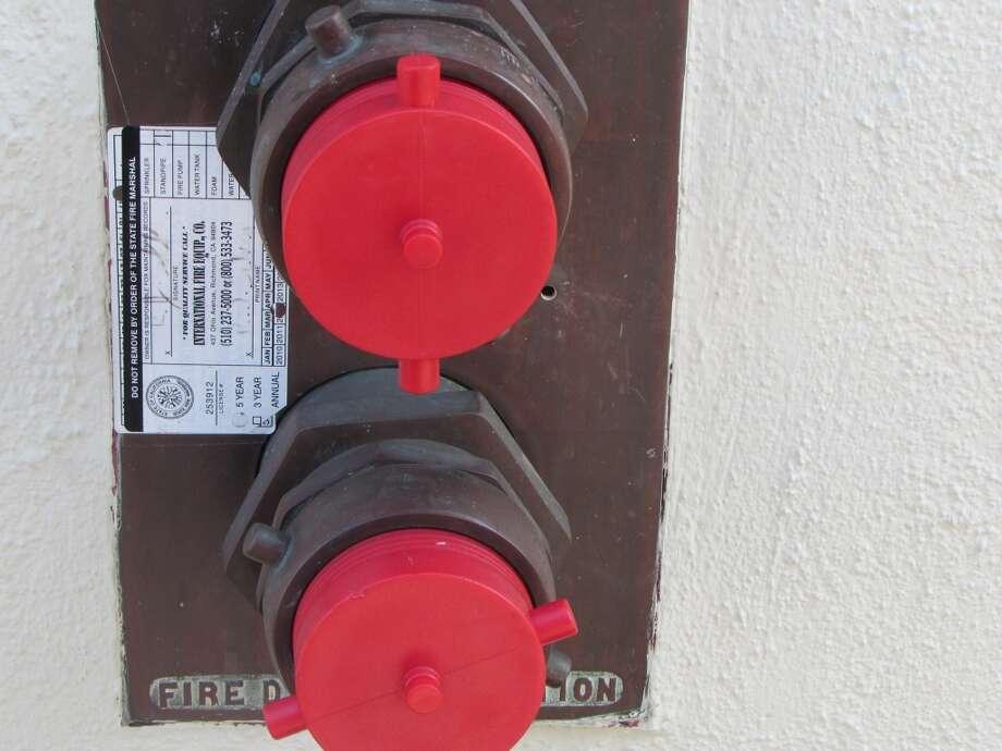 Sacramento Street, shut off valve for sprinkler Photo: WIll Hearst