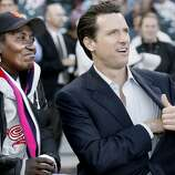 georgia147.jpg As the San Francisco Giants salute Project Homeless Connect (a homeless services gathering), Georgia is joined by Mayor Gavin Newsom. She will throw out the first pitch, she has become a kind of postergirl for homeless in San Francisco.Georgia Mitchell, a homeless woman, has lived on San Francisco streets for years.  In the last few years a medical condition with her knee finally forced her to seek treatment.  Through a series of life events she has gotten medical treatment, and gotten permanent housing.  It has been a long process costing the city of San Francisco over a quarter of a million dollars.{Brant Ward/The Chronicle} 7/31/06 Ran on: 10-29-2006For years, Georgia Mitchell could be found on the streets of the Tenderloin. When health problems finally sent her to a hospital, she required months of care at public expense.Ran on: 10-29-2006For years, Georgia Mitchell could be found on the streets of the Tenderloin. When health problems finally sent her to a hospital, she required months of care at public expense.