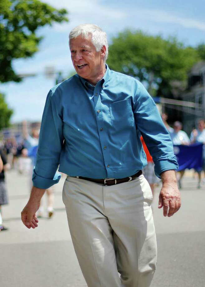 Portland, MaineU.S. Rep. Mike Michaud, a Democratic candidate for governor marches in the Portland Pride Parade, Saturday, June 21, 2014, in Portland, Maine. Gay rights activists around the country are eyeing the Maine's governor's race as a chance to make history. Michaud would become the first openly gay candidate to become governor if he unseats vulnerable Republican Gov. Paul LePage in November. (AP Photo/Robert F. Bukaty) Photo: Robert F. Bukaty, Associated Press / AP