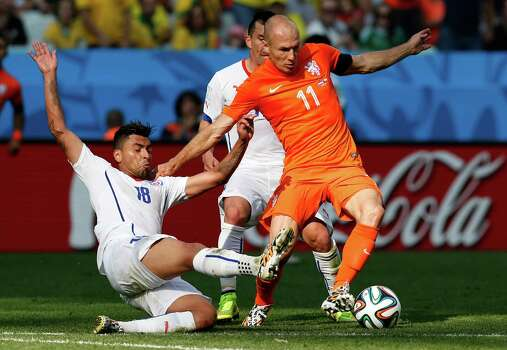 June 23Netherlands 2, Chile 0 Photo: Frank Augstein, Associated Press / AP