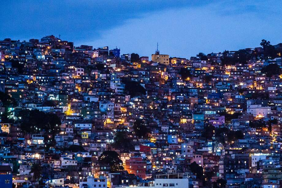 A general view of the Rocinha favela in Rio de Janeiro. Photo: Yasuyoshi Chiba, AFP/Getty Images