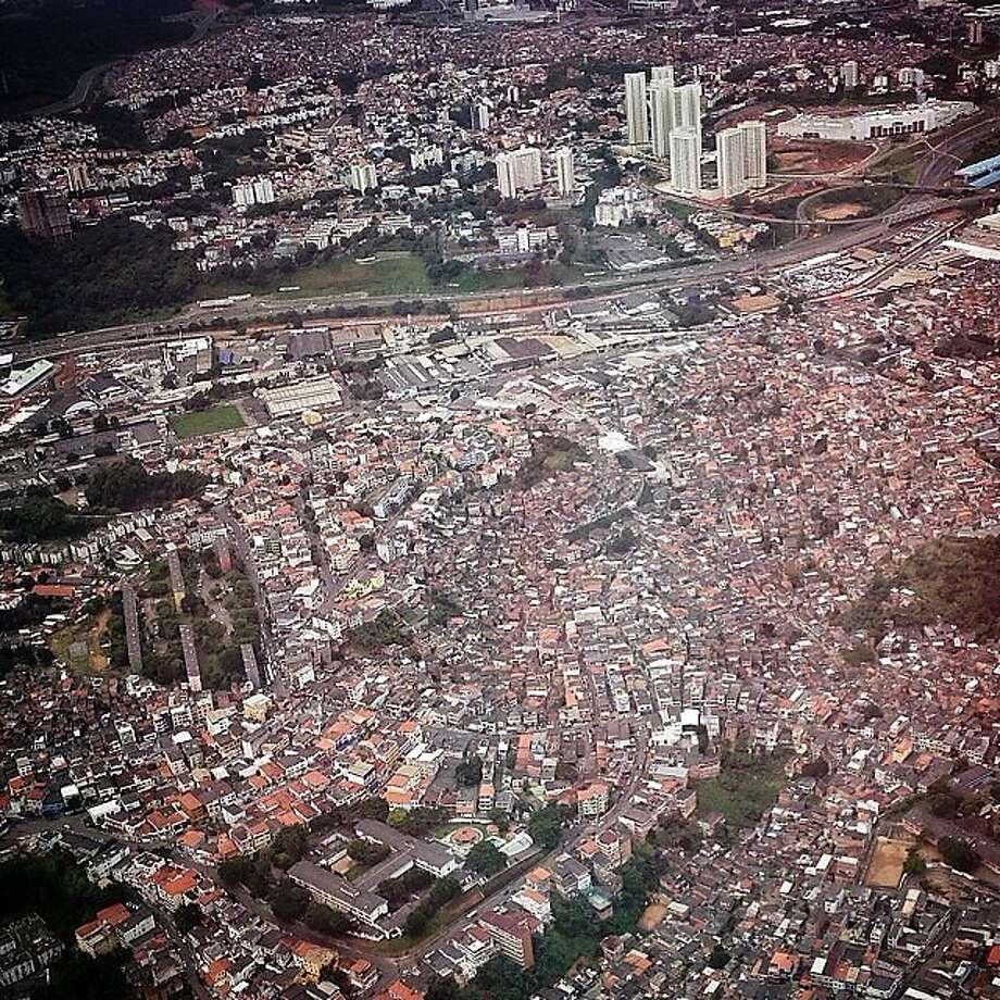 A bird's eye view of the favelas in Salvador, Brazil. Photo: Wong Maye-E, Associated Press