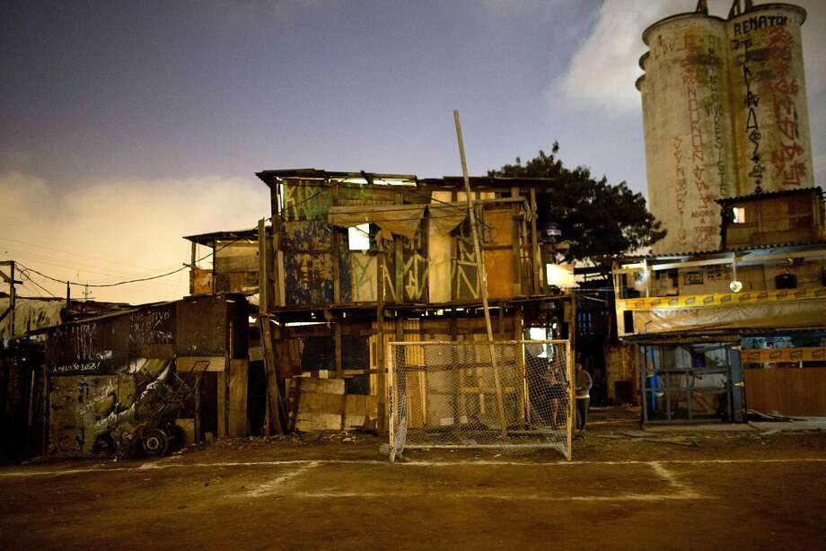 "Houses in Favela Moinho are seen after the end of the ""Rebelde Cup"" in Sao Paulo. Photo: Rodrigo Abd, Associated Press"