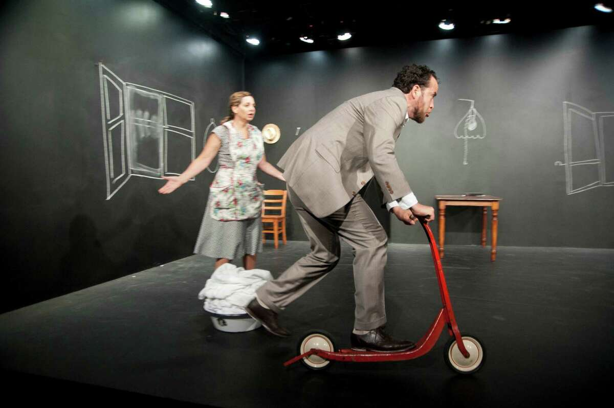 Working on A Special Day Barrington Stage Company Based on ?Una Giornata Particolare? by Ettore Scola & Ruggero Maccari and Adapted by Gigliola Fantoni Translated by Danya Taymor, Ana Graham & Antonio Vega Directed by and Starring Ana Graham & Antonio Photos by Kevin Sprague