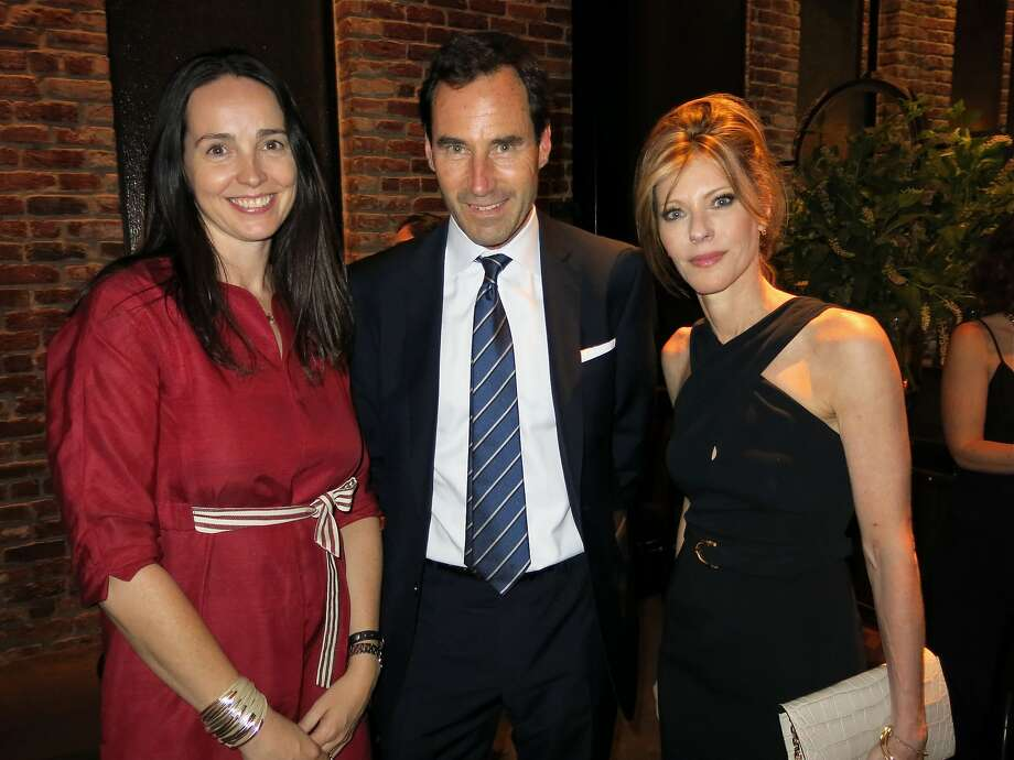 Square CFO Sarah Friar (left), Elle Publisher Kevin O'Malley and Editor in Chief Robbie Myers at Quince Restaurant. Photo: Catherine Bigelow, Special To The Chronicle