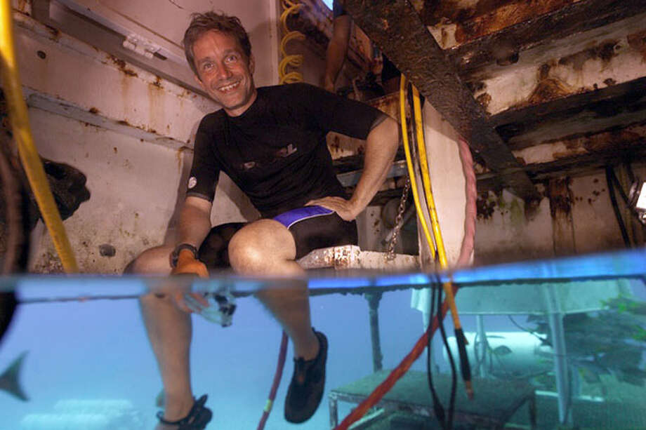 Fabian Cousteau is the granson of Jaqques Cousteau. Photo: Contributed Photo/Mark Widick, Contributed Photo / The News-Times Contributed
