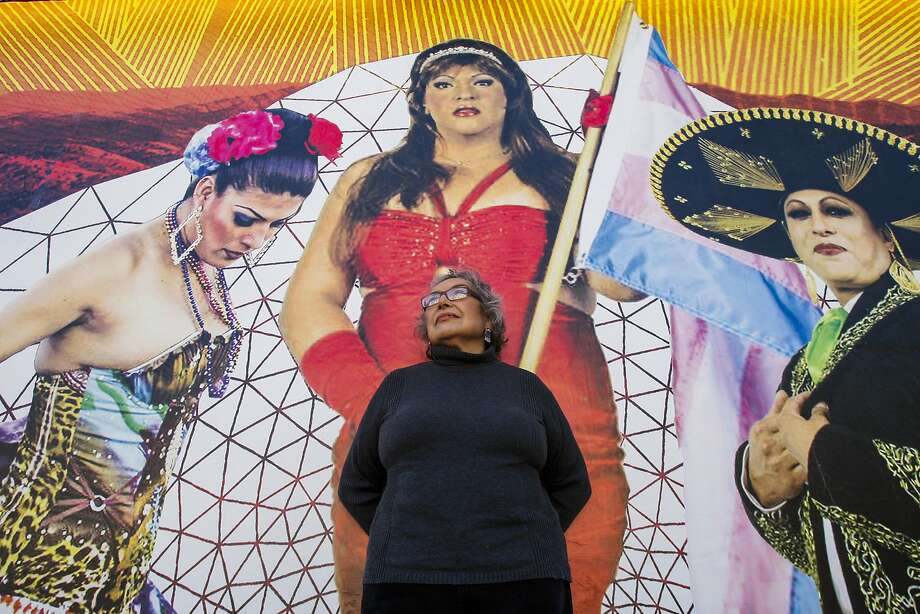 Yolanda López, who lost her home of 40 years through an Ellis Act Eviction, stands outside the Galería de la Raza. Photo: Craig Hudson, The Chronicle