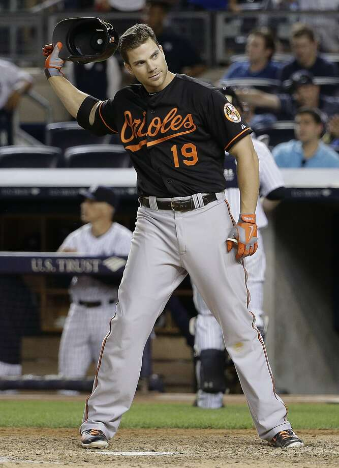 "Chris Davis' power numbers and batting average are down drastically after he hit .286 with 53 homers last season. ""I'm not really feeling a whole lot at the plate right now other than frustra- tion,"" he said. Photo: Julie Jacobson, Associated Press"