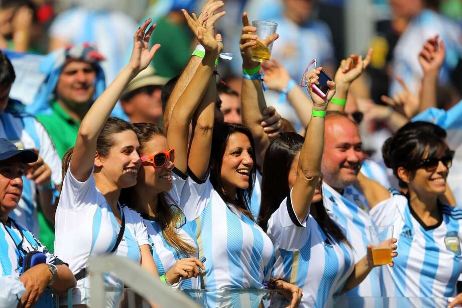 BELO HORIZONTE, BRAZIL - JUNE 21: Argentina fans during the 2014 FIFA World Cup Brazil Group F match between Argentina and Iran at Estadio Mineirao on June 21, 2014 in Belo Horizonte, Brazil. (Photo by Amin Mohammad Jamali/Getty Images) Photo: Getty Images