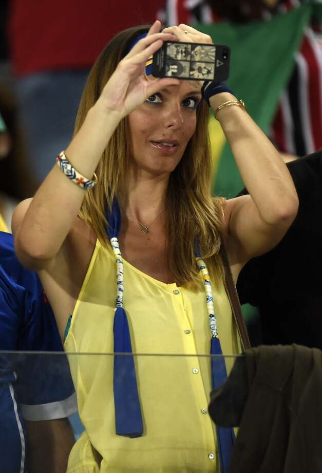 A fan takes a selfie before the start of the Group F football match between Nigeria and Bosnia-Hercegovina at the Pantanal Arena in Cuiaba during the 2014 FIFA World Cup on June 21, 2014.  AFP PHOTO / JUAN BARRETO        (Photo credit should read JUAN BARRETO/AFP/Getty Images) Photo: AFP/Getty Images