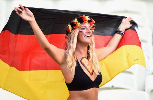 FORTALEZA, BRAZIL - JUNE 21:  A Germany fan poses during the 2014 FIFA World Cup Brazil Group G match between Germany and Ghana at Castelao on June 21, 2014 in Fortaleza, Brazil.  (Photo by Laurence Griffiths/Getty Images) Photo: Getty Images