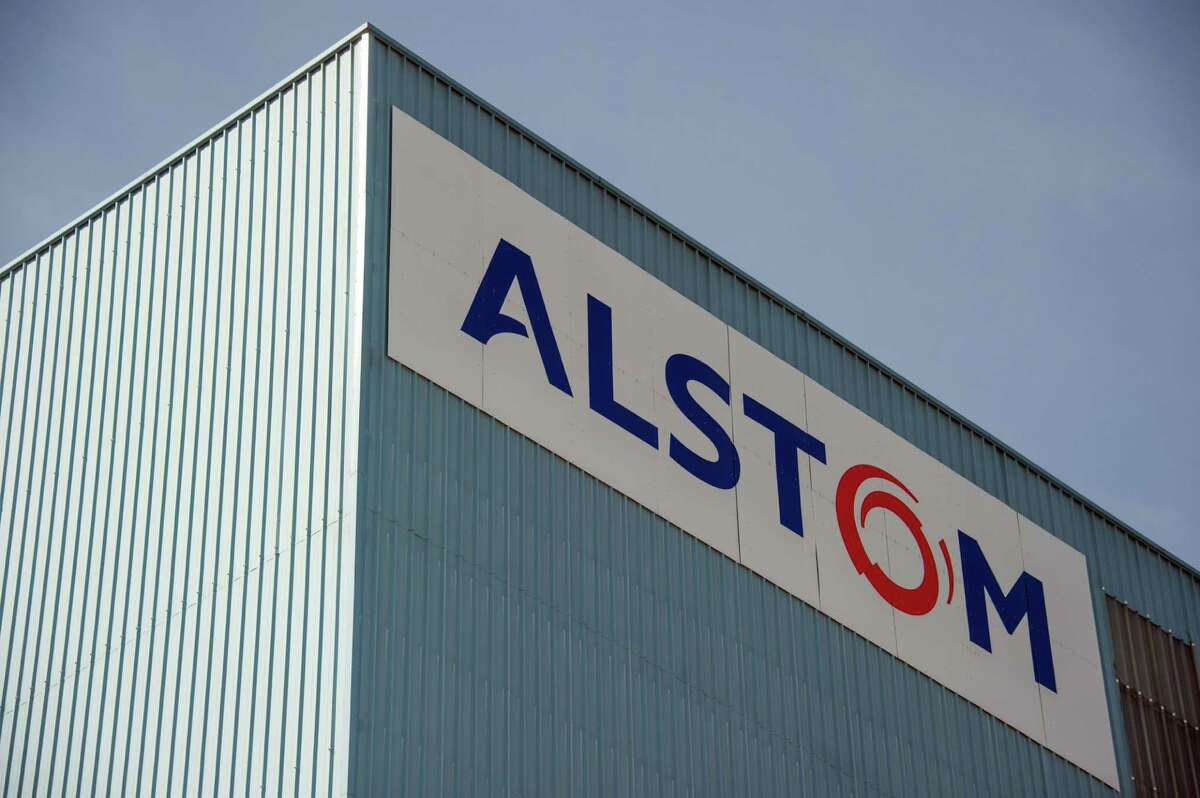 A photo taken on June 23, 2014 in Belfort shows the logos of the French power and transport engineering company Alstom. France on June 22 clinched a deal to take a stake in Alstom, a move aimed at preserving the country's strategic interests in the face of a bidding war for the French engineering giant. AFP PHOTO / SEBASTIEN BOZONSEBASTIEN BOZON/AFP/Getty Images