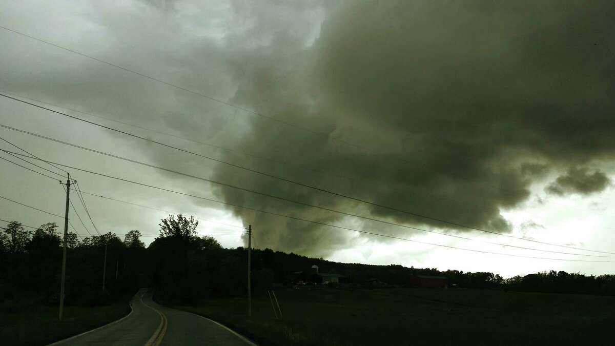Very ominous indded A low cloud hovers over Duanesburg and Delanson on May 30. This was taken on Becker road near the Orchard Creek Golf Course in this photo from Mary An Keeler of Guilderland.