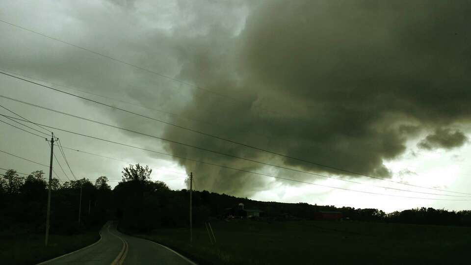 Very ominous indded A low cloud hovers over Duanesburg and Delanson on May 30. This was taken on Bec