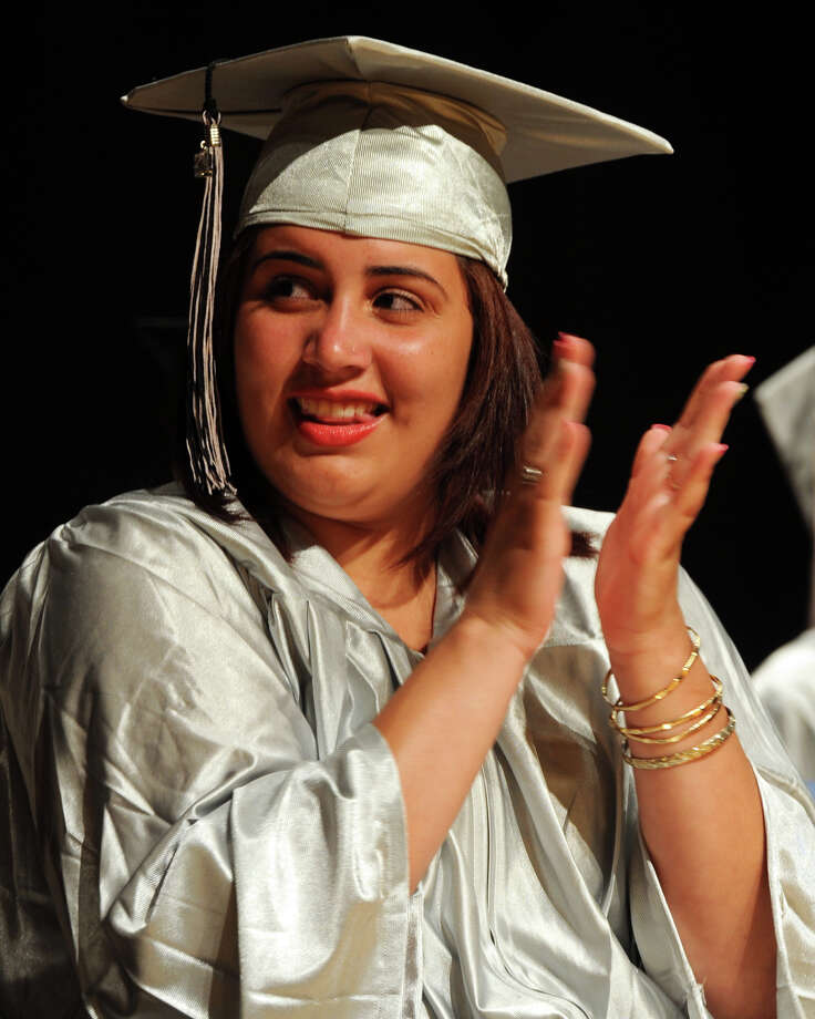 Commencement Exercises for The Bridge Academy Class of 2014, held at Thurgood Marshall School, in Bridgeport, Conn. June 23, 2014. Photo: Ned Gerard / Connecticut Post