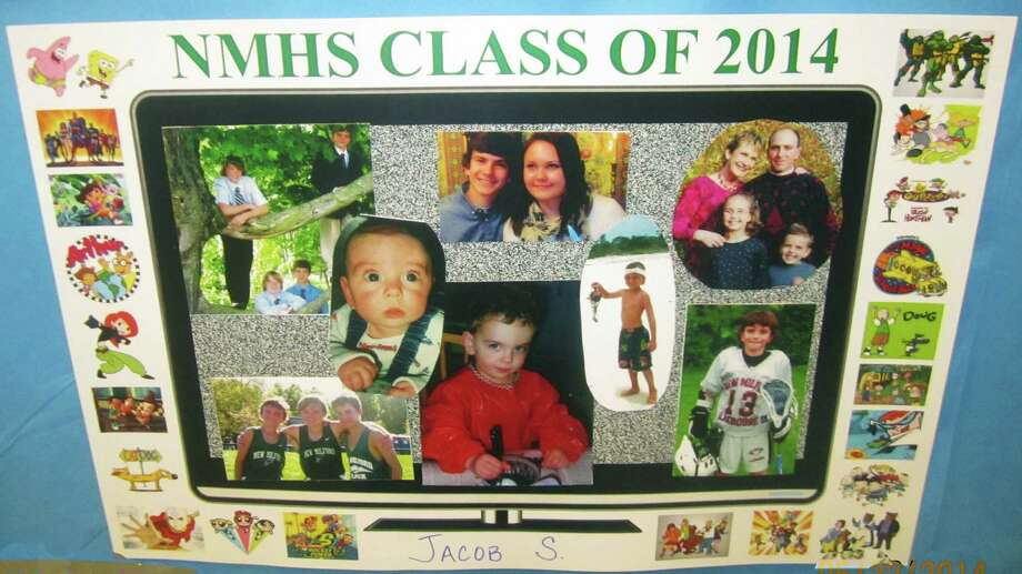 Jacob Smeriglio and many of his fellow grads shared photos of their childhood and family memories for all to enjoy during the New Milford High School Grad Party, June 21-22, 2014 at NMHS. Photo: Norm Cummings / The News-Times