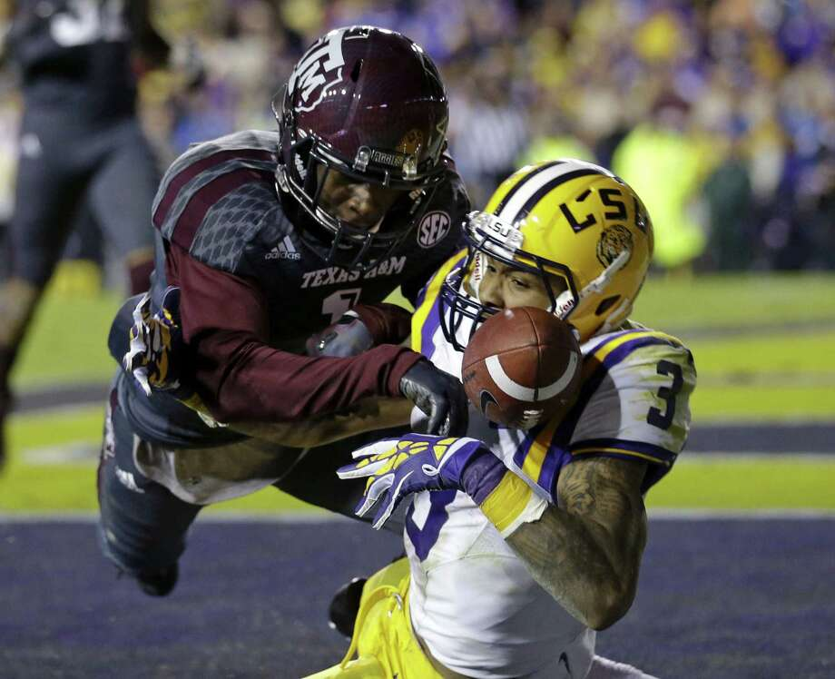 Defensive back De'Vante Harris and A&M will try to beat LSU for the first time since joining the Southeastern Conference. Photo: Gerald Herbert / Associated Press / AP