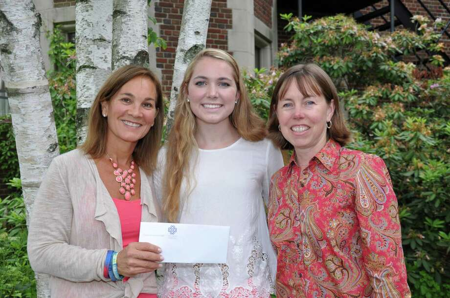 Isabel Hetherington, center, received the Community Impact Award from the New Canaan Community Foundation. With her are Jennifer Czech, co-founder of the Mikey Czech Foundation, and Cynthia Gorey, executive director of the New Canaan Community Foundation. Photo: Contributed Photo, Contributed / New Canaan News Contributed