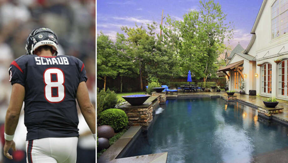 Former Houston Texans quarterback Matt Schaub has listed his Houston home for sale for $4.29 million. Maybe some crazed Texans fans will buy it just to burn it down. (We're not endorsing or condoning that.) Photo: Houston Chronicle