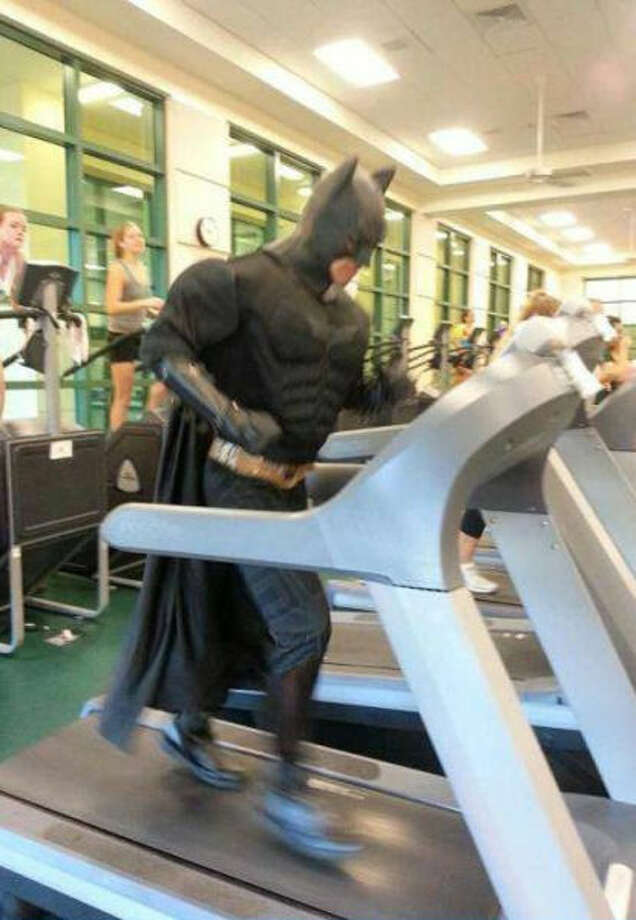 The guy training for the event of a lifetimeIt could be saving the world or a marathon, but this person takes training way too seriously.  Photo: Funny Mad World